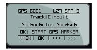 Displayanzeige GPS