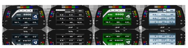 AiM MXG Display Funktionen