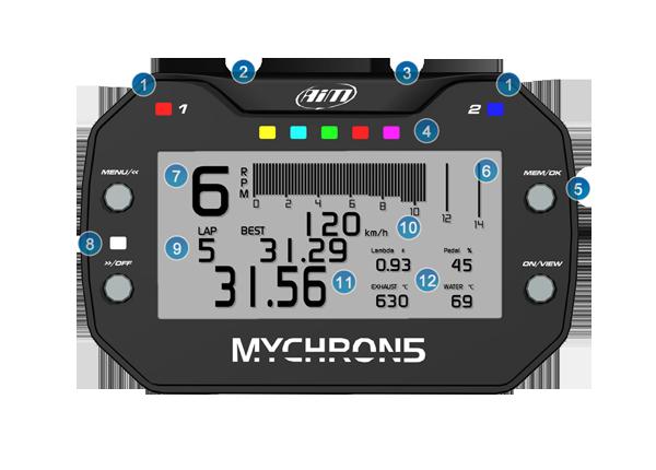 Funktionen AiM MyChron5 2T